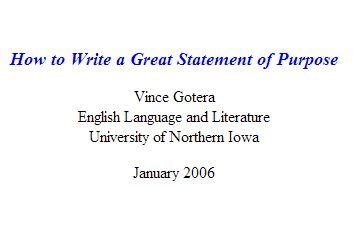 Personal statement goals example